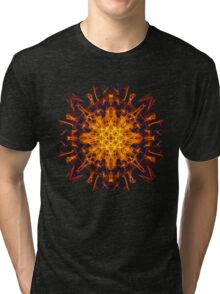 Energetic Geometry - Abstract Solar Power Symbol Tri-blend T-Shirt
