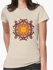 Energetic Geometry - Abstract Solar Power Symbol Womens Fitted T-Shirt