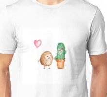 Hedgehog and Cactus Love Unisex T-Shirt