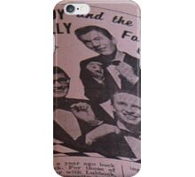 Buddy Holly and The Fabulous Crickets, close up iPhone Case/Skin