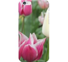 Sea of Purple and one White Tulip iPhone Case/Skin