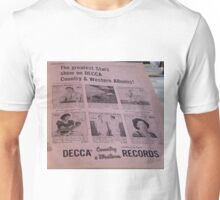 Country & Western Albums ad, Patsy Cline Unisex T-Shirt