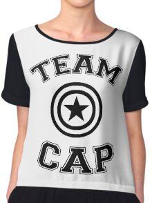 Team Cap Chiffon Top
