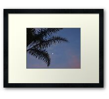 Moonlit sunset Framed Print