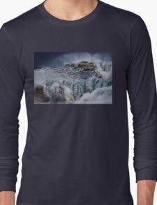 Winter Waves At Pipeline 16 Long Sleeve T-Shirt