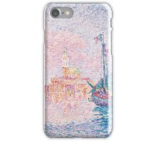 Paul Signac - Venice, The Pink Cloud,  Seascape  iPhone Case/Skin