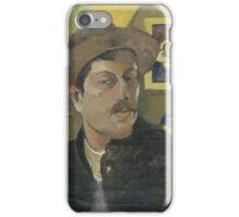 Paul Gauguin - Self-portrait with a hat  iPhone Case/Skin