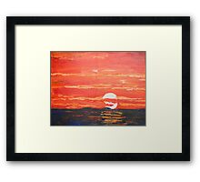 Disappearing Sunset Framed Print