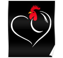 I Loves Chicken, Gift For Chicken Lady Lovers Poster