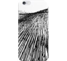 Abstract Field (black) iPhone Case/Skin