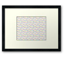 rainbow bicycles Framed Print