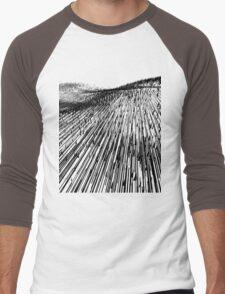 Abstract Field (black) Men's Baseball ¾ T-Shirt