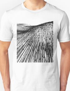 Abstract Field (black) Unisex T-Shirt