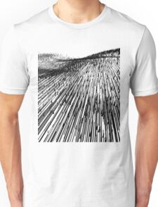 Abstract Field (black) Unisex T-Shirt