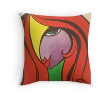Lady in red!  Throw Pillow