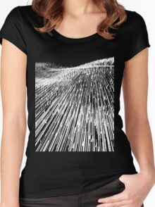 Abstract Field (white) Women's Fitted Scoop T-Shirt