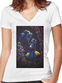 Enchanted Garden Women's Fitted V-Neck T-Shirt