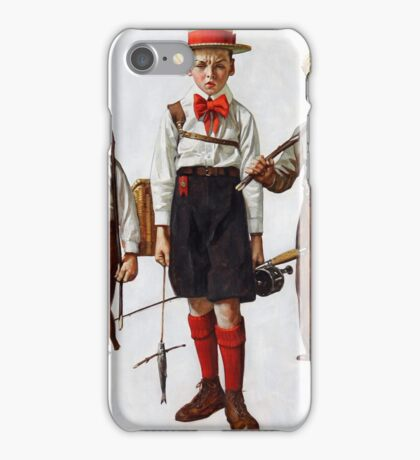 Norman Rockwell  - Catch, The  . Fishers iPhone Case/Skin