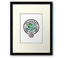 seed trained Framed Print