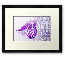 Love Lips purple Framed Print