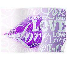Love Lips purple Poster