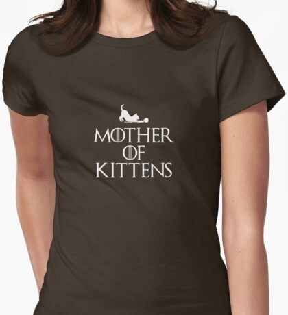 Mother of Kittens - Dark T Womens Fitted T-Shirt