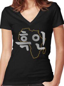 Blasian 2.0 Women's Fitted V-Neck T-Shirt