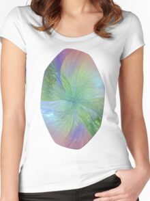 Mystic Warmth Abstract Fractal Women's Fitted Scoop T-Shirt