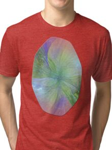 Mystic Warmth Abstract Fractal Tri-blend T-Shirt