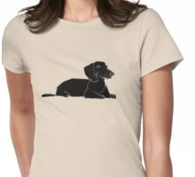 doxie Womens Fitted T-Shirt