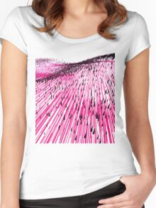 Abstract Field Women's Fitted Scoop T-Shirt