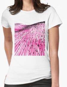 Abstract Field Womens Fitted T-Shirt