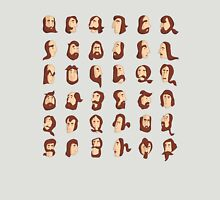 ARMENIAN BEARD ALPHABET ILLUSTRATIVE TYPOGRAPHY Unisex T-Shirt