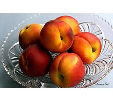 A Bowl Full of Sunshine ~ Peaches Photographic Print