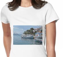 Boats Of Skiathos, Greece Womens Fitted T-Shirt