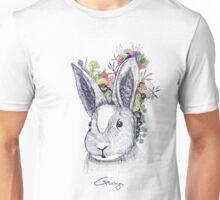 rabbit (flowers) Unisex T-Shirt
