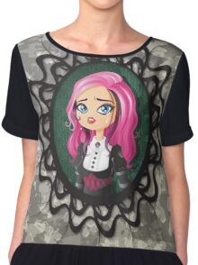 Gothic doll crying Chiffon Top