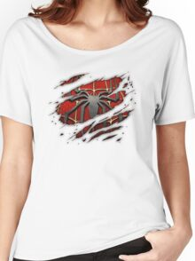 Spiderman Chest Ripped Women's Relaxed Fit T-Shirt