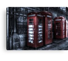 Red Phone Boxes at Smithfield Market Canvas Print