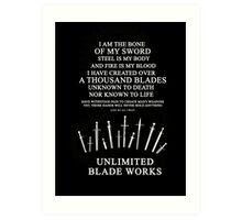 Unlimited Blade Works - Incantation Art Print