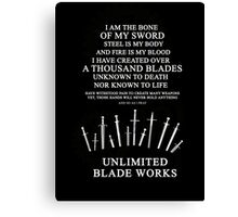Unlimited Blade Works - Incantation Canvas Print