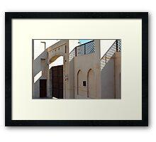 Beige Arabic building. Framed Print