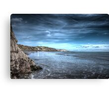 Folkestone Beach Canvas Print