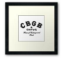 CBGB Framed Print