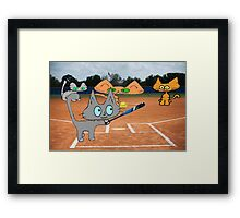 Cats Play Playing Softball! Framed Print
