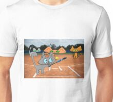 Cats Play Playing Softball! Unisex T-Shirt