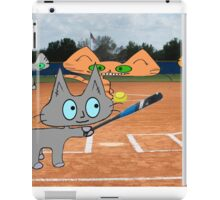 Cats Play Playing Softball! iPad Case/Skin