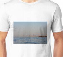 Skyline of Dubai buildings seen from the sea. Unisex T-Shirt