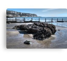 Large rock at The Warren, Folkestone Canvas Print