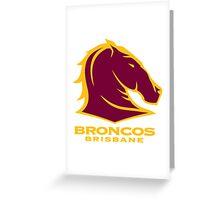 NRL BRONCOS BRISBANE Greeting Card